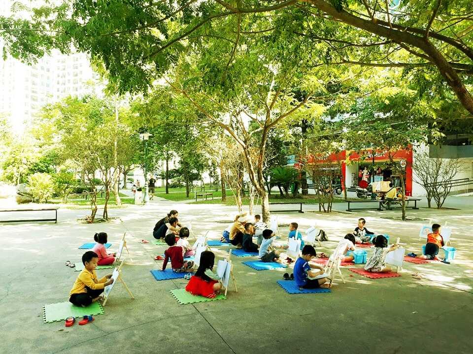 công viên 6 giác quan hồng hà eco city
